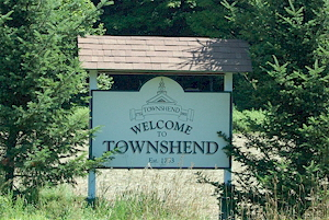 Townshend Welcome Sign